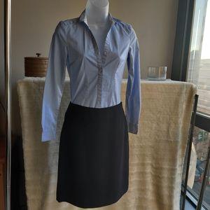 H&M pin striped blouse